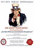 WE WANT YOUR DATA!