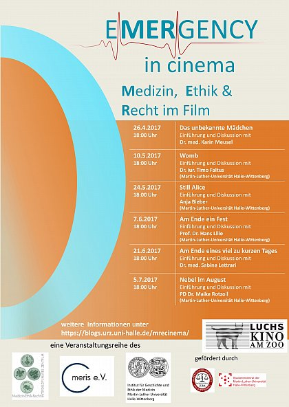 EMERGENCY in cinema Medizin, Ethik & Recht im Film