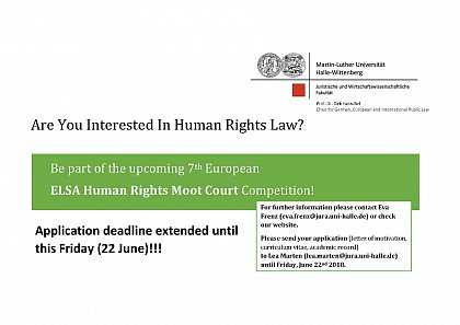 7th European ELSA Human Rights Moot Court Competition